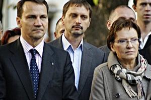 Ministrowie Kopacz i Skorski spacerowali ulicami Szydłowca