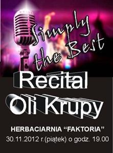 Utalentowana Ola Krupa wystąpi z recitalem