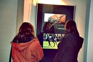 Oglądali konie na fotografiach!