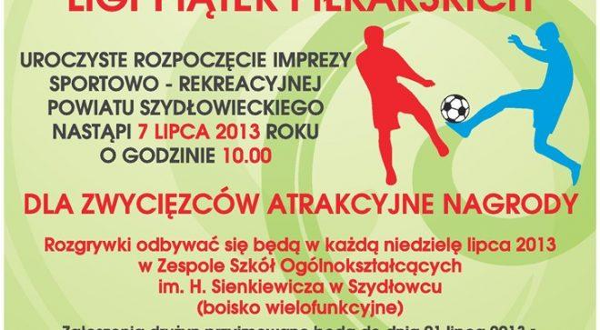 Starosta Szydłowiecki zaprasza do udziału w lidze piątek piłkarskich