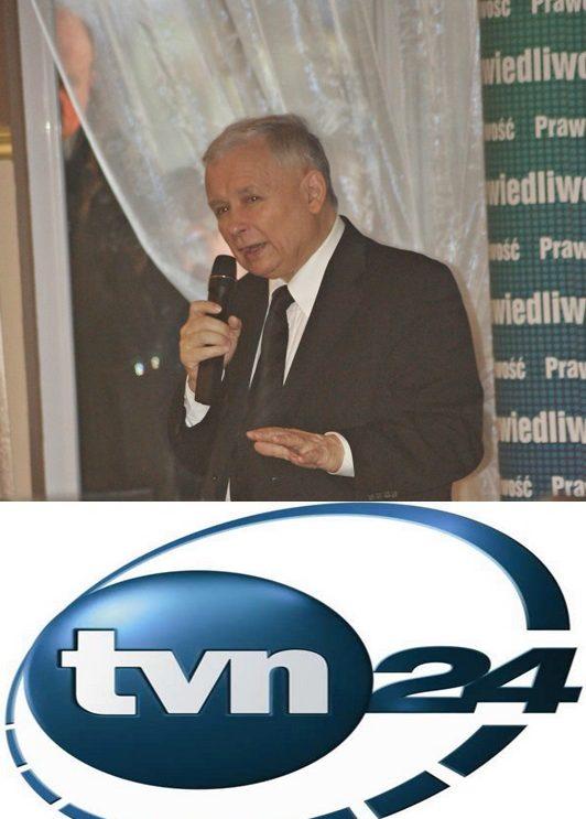 TVN24 w Szydłowcu …o Kaczyńskim (?!)