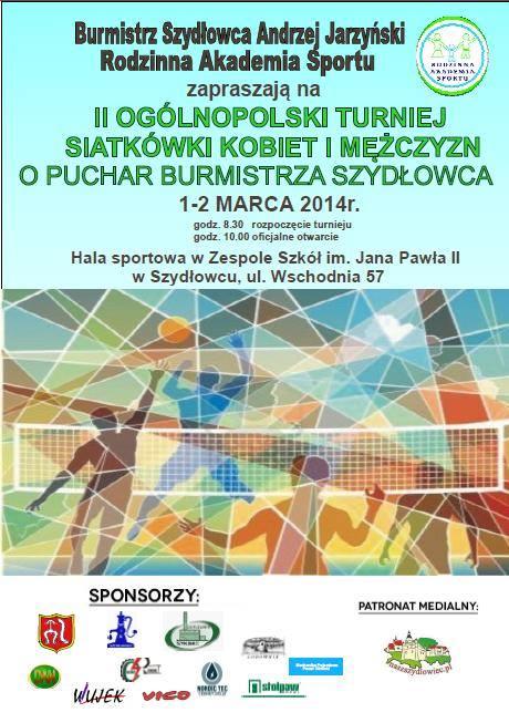 Zapraszamy na II Ogólnopolski Turniej Siatkówki Kobiet i Mężczyzn