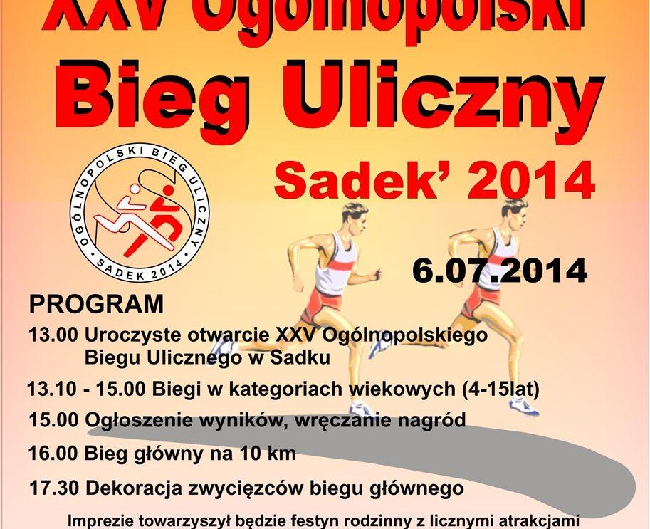 XXV Ogólnopolski Bieg Uliczny w Sadku – zapowiedź