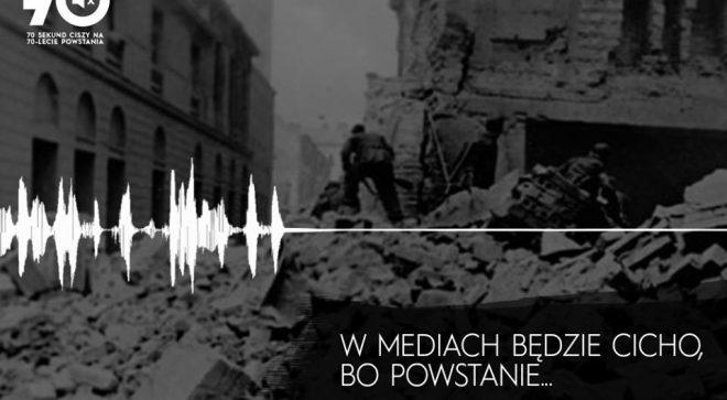 70 rocznica wybuchu Powstania Warszawskiego. Cicho, bo powstanie. 70 sekund ciszy.