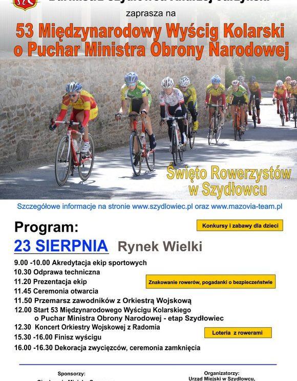 Już jutro Wyścig Kolarski w Szydłowcu