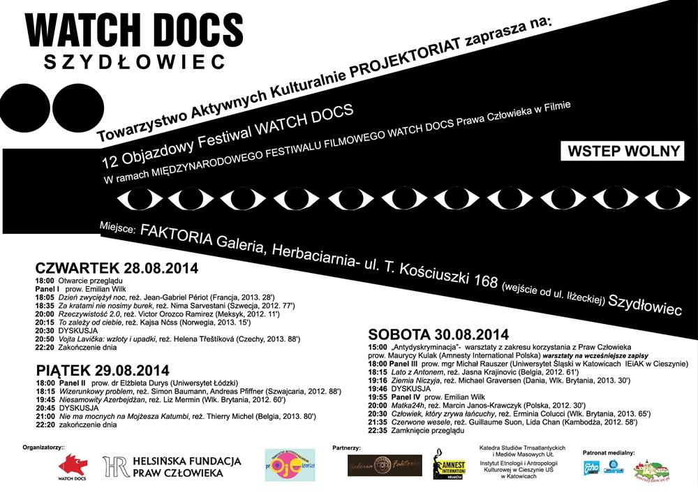 """12. Objazdowy Festiwal """"Watch Docs"""" już niebawem w Szydłowcu"""