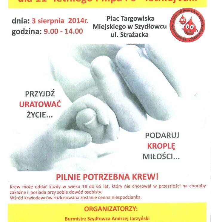 Oddaj krew! Uratuj życie!