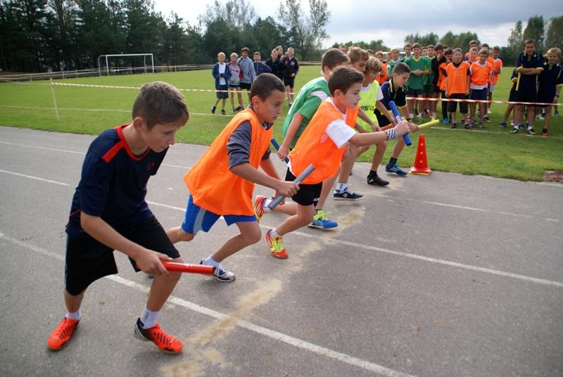 Sztafetowe bieganie w Jastrzębiu
