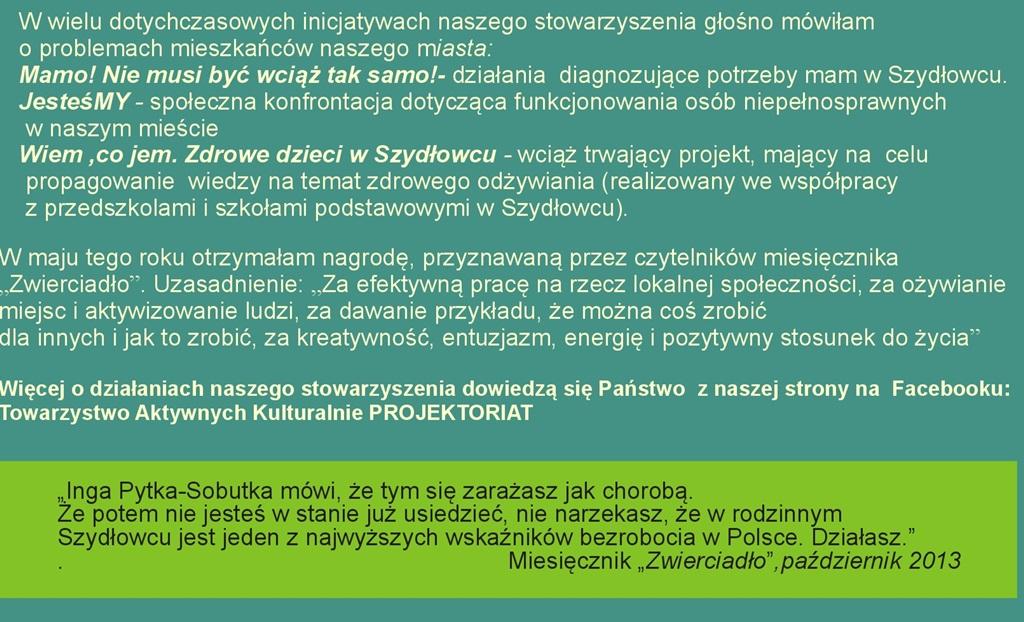 Inga Pytka – Sobutka – Kandydatka do Rady Miejskiej w Szydłowcu