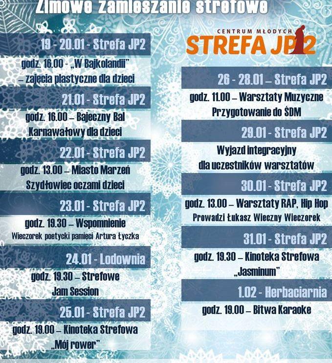 Spędź ferie zimowe w Strefie JP – Centrum Młodych!