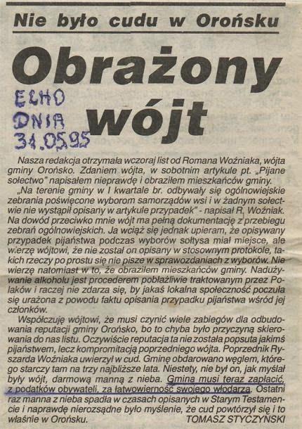 Krzysztof Knop – o Orońsku, Szydłowcu, wójcie Nosowskim, burmistrzu Ludwie, doradcy Kwiatku itp…