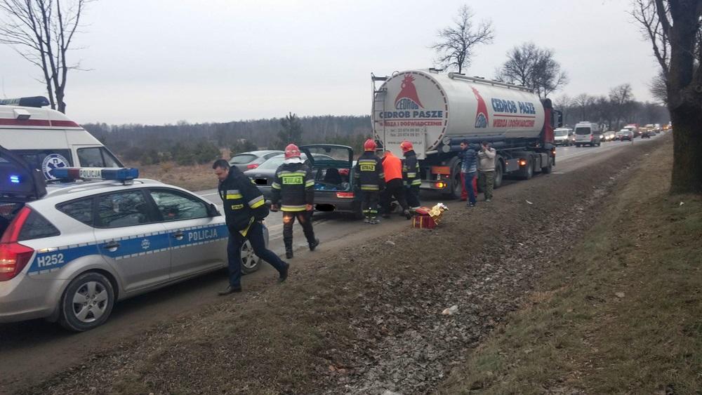 Wypadek w miejscowości Zdziechów