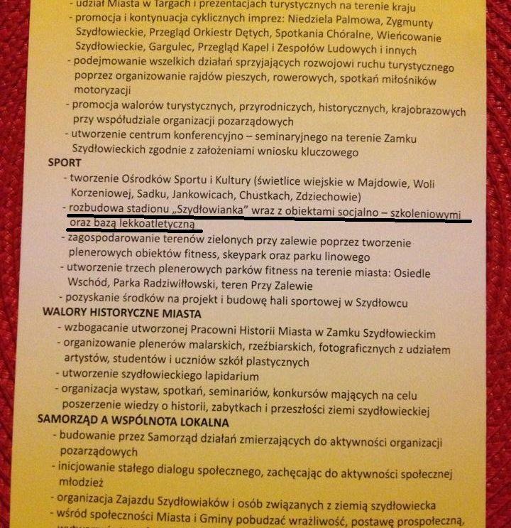 """""""Nie"""" dla nowego stadionu Szydłowianki?"""
