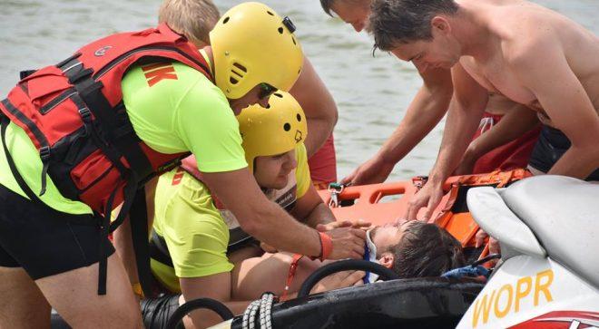 Bezpieczeństwo nad wodą: ćwiczenia nad zalewem w Jastrzębiu