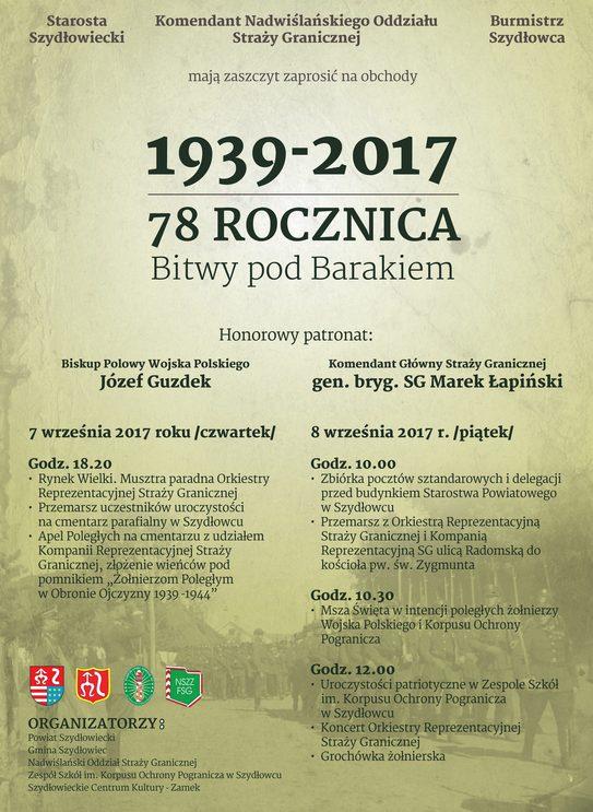 78. rocznica Bitwy pod Barakiem. Zapraszamy na uroczystości!