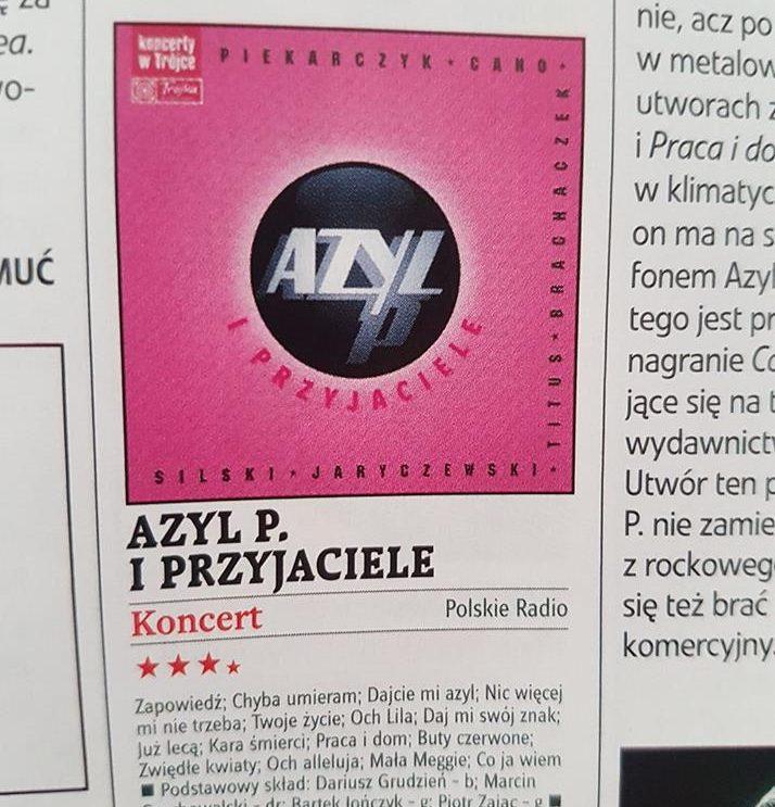 """Recenzja płyty Azylu P. w miesięczniku """"Teraz Rock"""""""