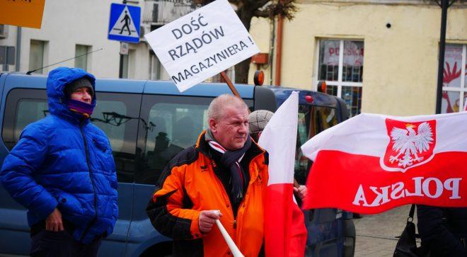 Związek Zawodowy protestował przed szydłowieckim ratuszem