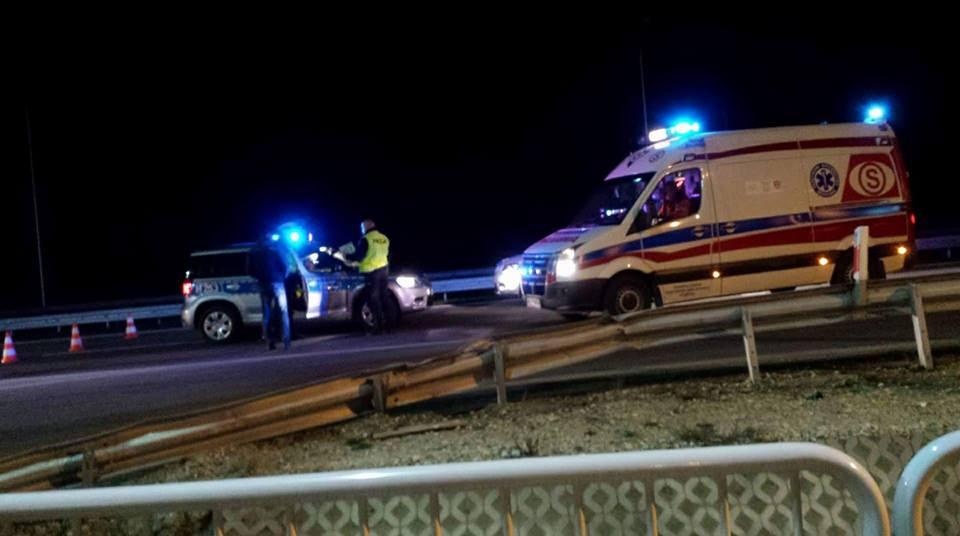 Śmiertelny wypadek na drodze S7