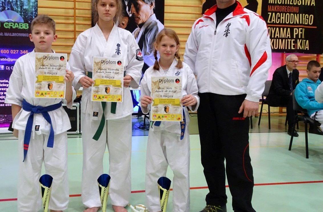 Trzy srebra karateków w Żaganiu