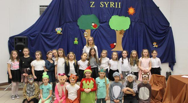 """""""Pomóżmy dzieciom z Syrii przetrwać zimę"""" projekt edukacyjny w PSP nr 2 im. Jana Pawła II w Szydłowcu"""