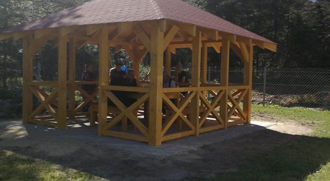 Nowa altana w Hucisku