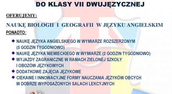 Dwujęzyczna klasa zaprasza!