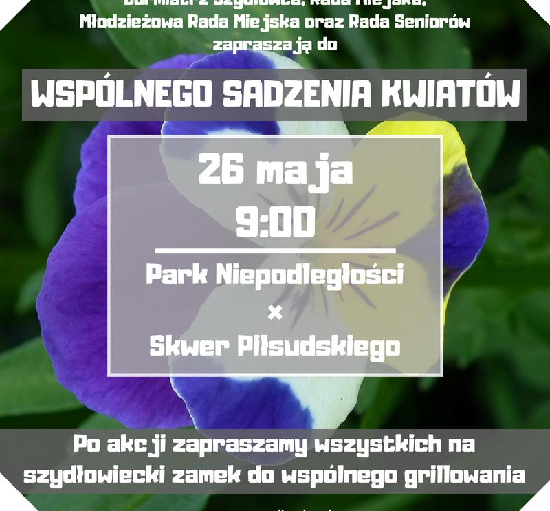 Zaproszenie do wspólnego sadzenia kwiatów