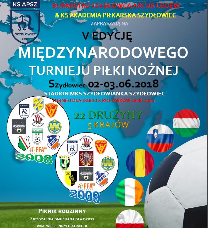 To będzie już piąty międzynarodowy turniej piłki nożnej w Szydłowcu!