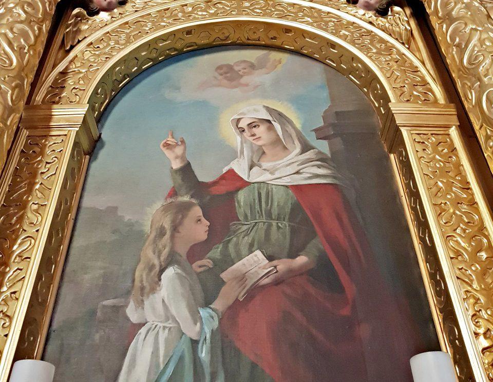 O św. Annie i jej ołtarzu w szydłowieckiej farze