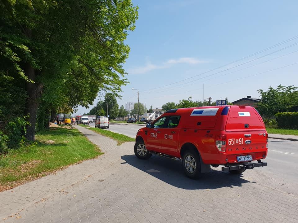 Wyciek gazu na ulicy Kościuszki