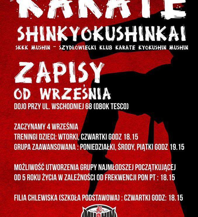 """Dołącz do Szydłowieckiego Klubu Karate Kyokushin """"MUSHIN"""""""