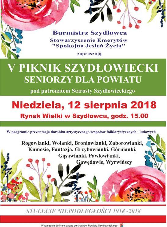 V Piknik Szydłowiecki – Seniorzy dla powiatu
