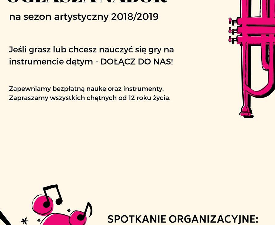 Miejska Orkiestra Dęta ogłasza nabór na sezon 2018/19