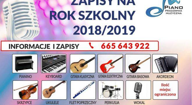 """Pracownia Muzyczna """"PIANO"""" zaprasza do zapisów na nowy rok szkolny"""