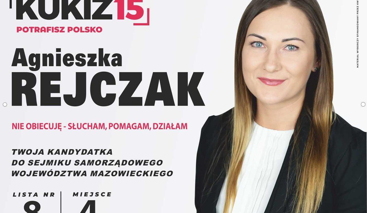 Agnieszka Rejczak – Kandydatka do Sejmiku Samorządowego Województwa Mazowieckiego