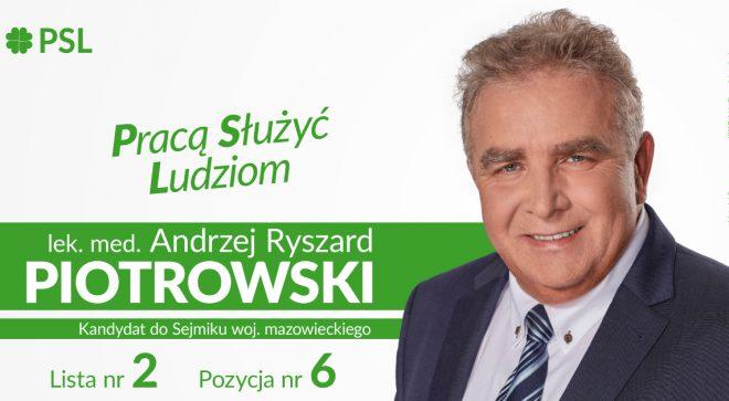 Andrzej Piotrowski – kandydat do Sejmiku Województwa Mazowieckiego