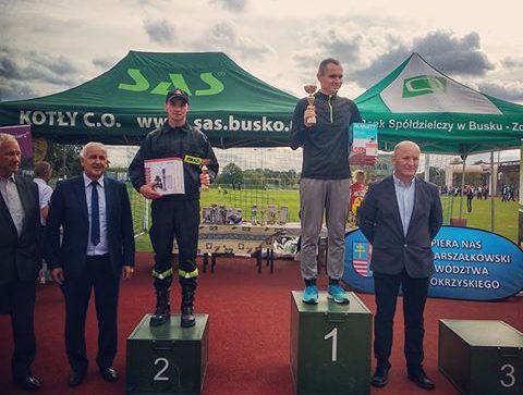 Michał Zugaj reprezentował szydłowiecką straż pożarną w biegu na 10 km
