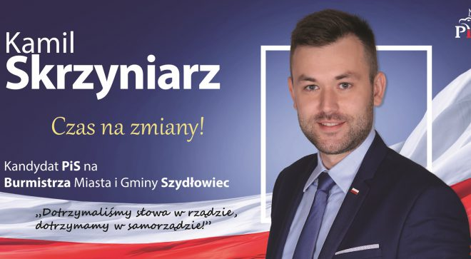 Kamil Skrzyniarz – kandydat na Burmistrza Szydłowca