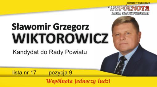 Sławomir Grzegorz Wiktorowicz – kandydat do Rady Powiatu Szydłowieckiego