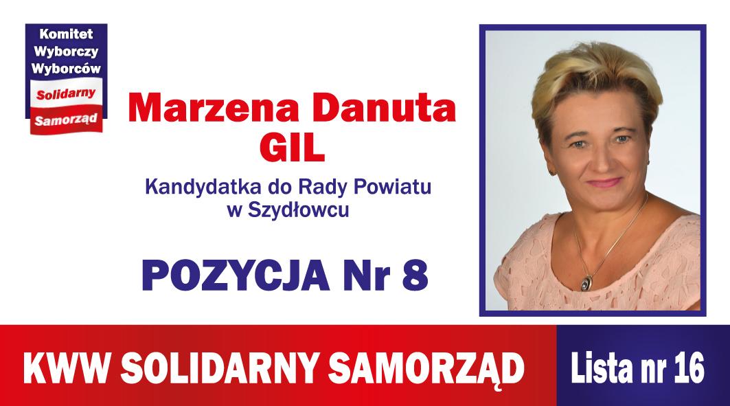 Marzena Danuta Gil – kandydatka do Rady Powiatu Szydłowieckiego