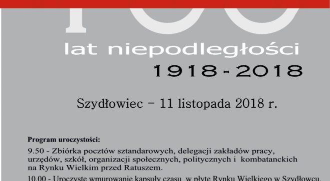 Uroczystości jubileuszowe 100 – lecia odzyskania przez Polskę Niepodległości