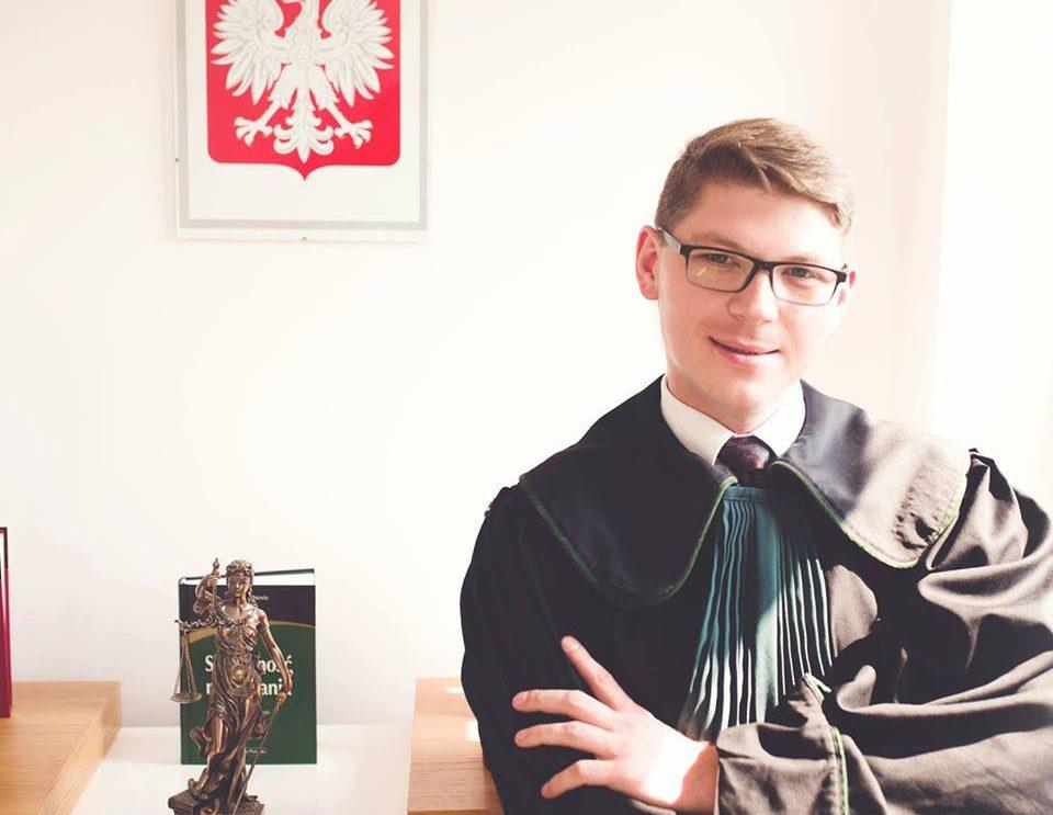 "Michał Podgórski z nagrodą ""Orły Prawa"""