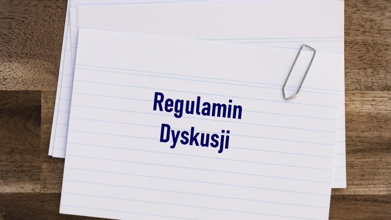 """Regulamin dyskusji na portalu """"Nasz Szydłowiec"""""""