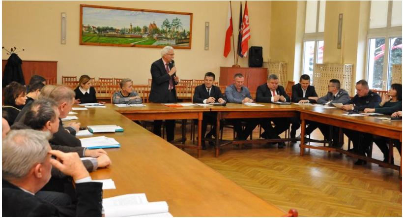 Posiedzenie Zespołu Zarządzania Kryzysowego oraz Komisji Bezpieczeństwa i Porządku