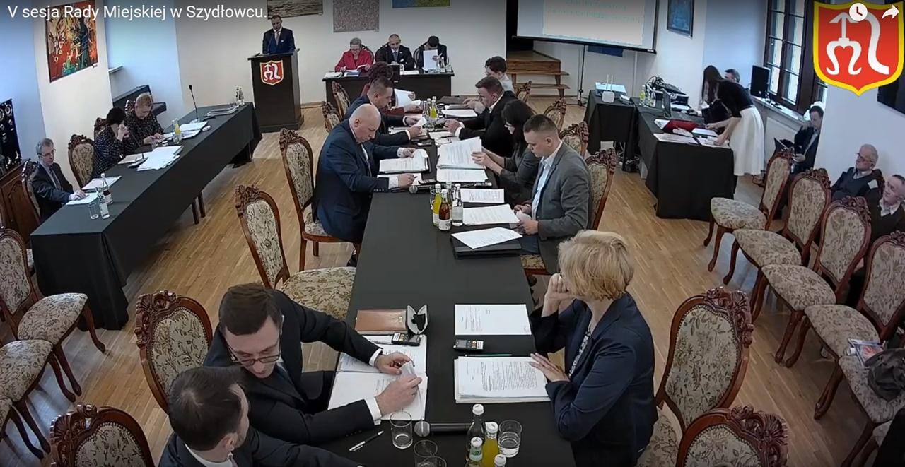 V sesja Rady Miejskiej w Szydłowcu