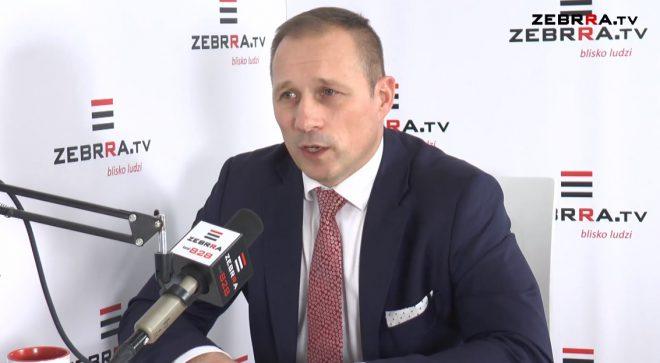 """Burmistrz Szydłowca Artur Ludew gościem programu """"Kontrast"""" w Zebrra.TV"""