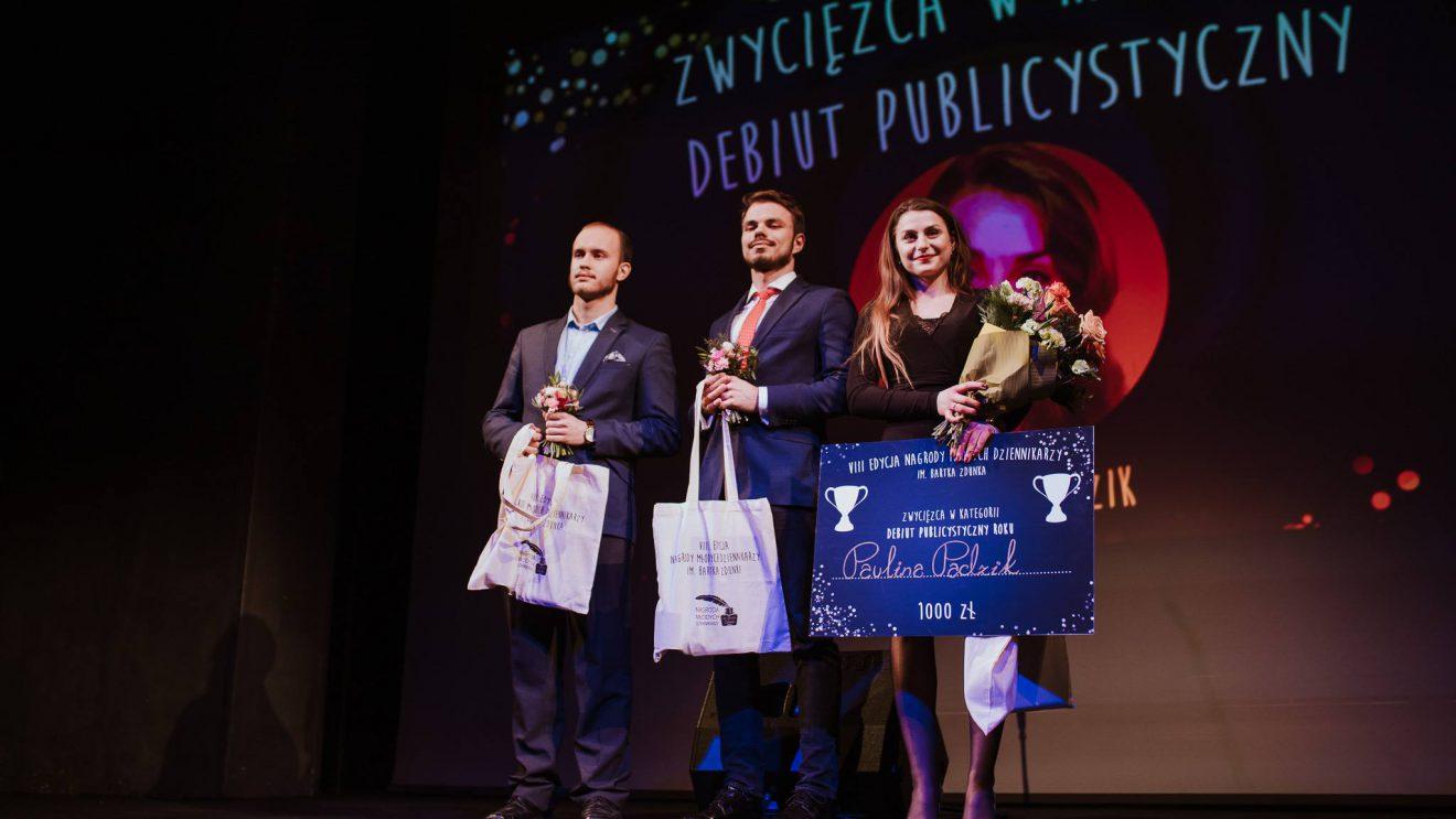 Paulina Padzik z Nagrodą Młodych Dziennikarzy