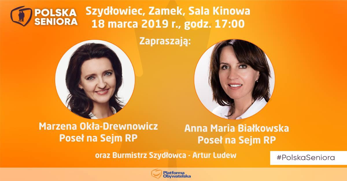 """""""Polska Seniora"""" – Platforma Obywatelska zaprasza na spotkanie w Szydłowcu"""
