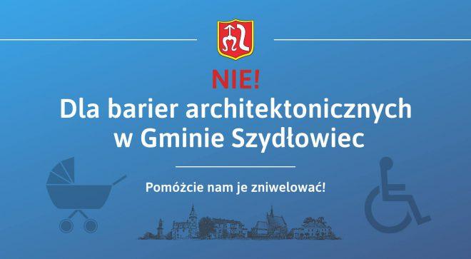 Gmina Szydłowiec prosi o pomoc w zniwelowaniu barier architektonicznych
