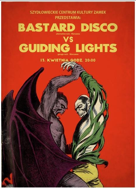 Zapraszamy na koncert zespołów Bastard Disco i Guiding Lights